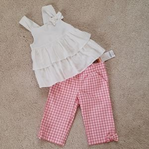Gymboree girl capris and shirt outfit